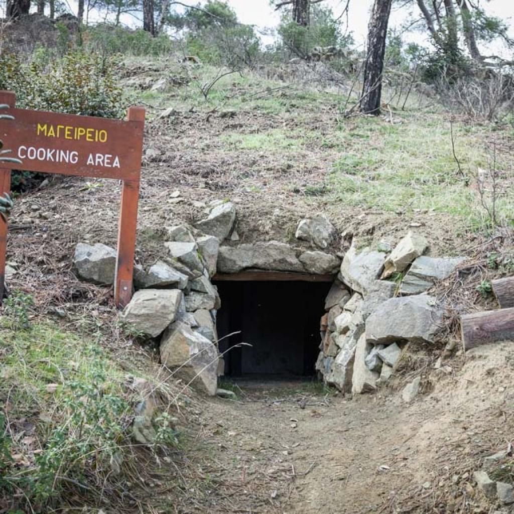 Bau der Verstecke von EOKA (Nationale Organisation der Zypernkämpfer)